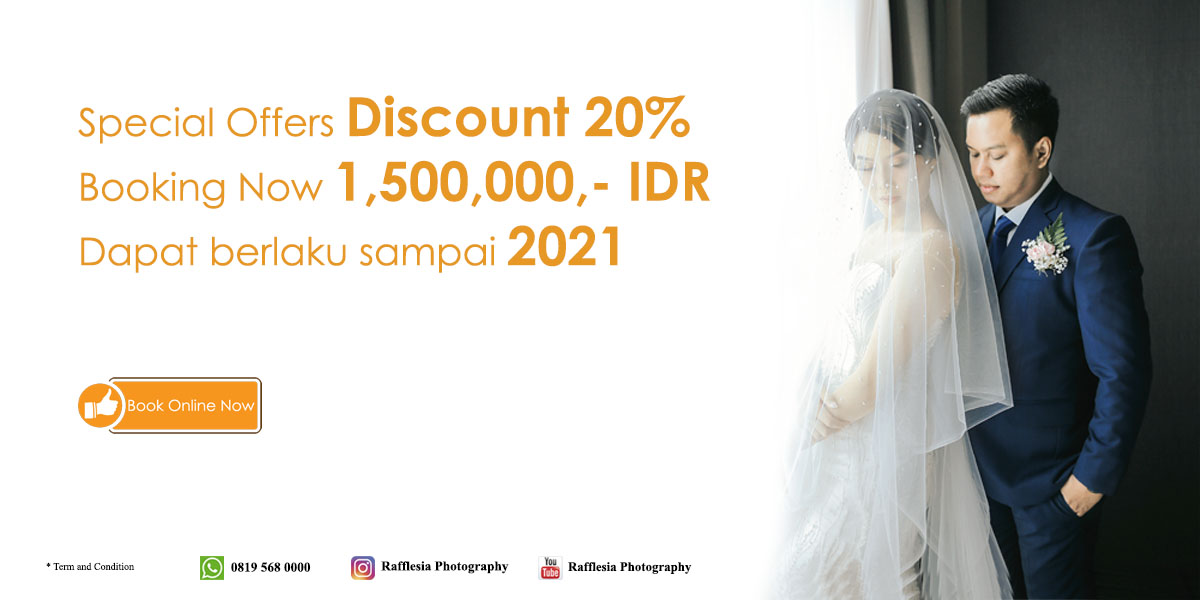 Promo jasa vendor foto video wedding engagement Jakarta Bekasi BSD